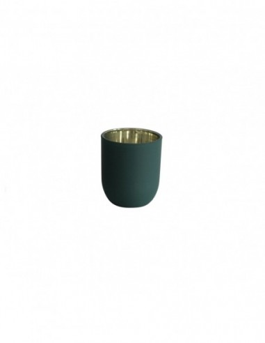 Bicchiere porta tealight Verde/Oro
