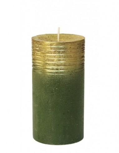 Candela rustica Verde con finitura...
